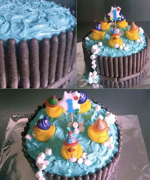 Торта за детски рожден ден басейн